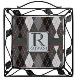 Modern Chic Argyle Trivet (Personalized)