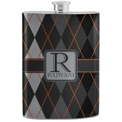 Modern Chic Argyle Stainless Steel Flask (Personalized)