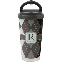 Modern Chic Argyle Stainless Steel Coffee Tumbler (Personalized)