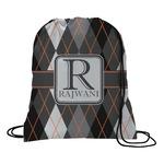 Modern Chic Argyle Drawstring Backpack (Personalized)
