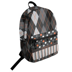 Modern Chic Argyle Student Backpack (Personalized)