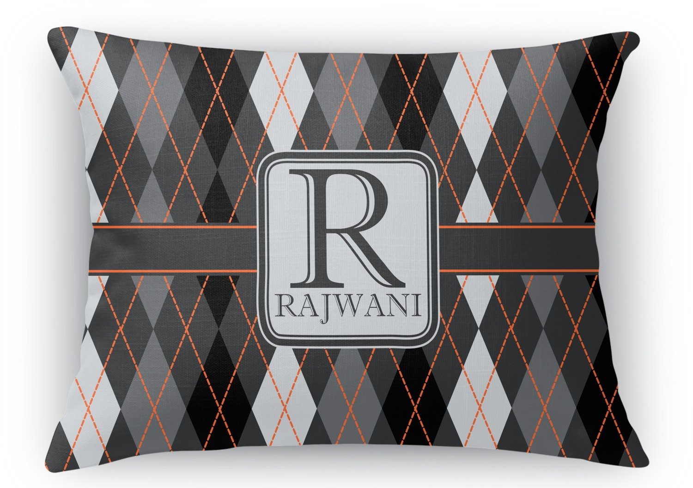 Modern Chic Pillows : Modern Chic Argyle Rectangular Throw Pillow - 18