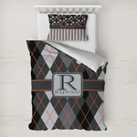 Modern Chic Argyle Toddler Bedding w/ Name and Initial