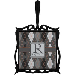 Modern Chic Argyle Trivet with Handle (Personalized)