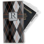 Modern Chic Argyle Travel Document Holder