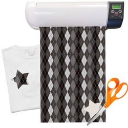 "Modern Chic Argyle Heat Transfer Vinyl Sheet (12""x18"")"