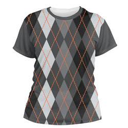 Modern Chic Argyle Women's Crew T-Shirt (Personalized)