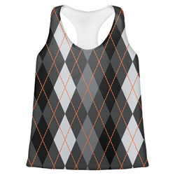Modern Chic Argyle Womens Racerback Tank Top (Personalized)