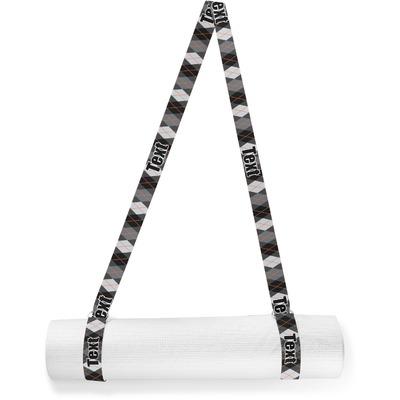 Modern Chic Argyle Yoga Mat Strap (Personalized)