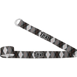 Modern Chic Argyle Yoga Strap (Personalized)