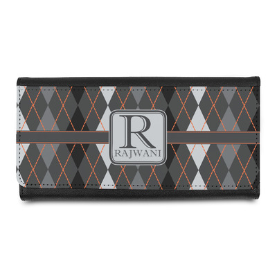 Modern Chic Argyle Leatherette Ladies Wallet (Personalized)