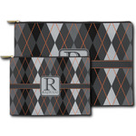 Modern Chic Argyle Zipper Pouch (Personalized)