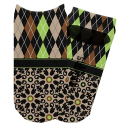 Argyle & Moroccan Mosaic Adult Ankle Socks (Personalized)