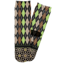 Argyle & Moroccan Mosaic Adult Crew Socks (Personalized)