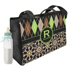 Argyle & Moroccan Mosaic Diaper Bag w/ Name and Initial