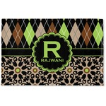 Argyle & Moroccan Mosaic Woven Mat (Personalized)