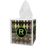 Argyle & Moroccan Mosaic Tissue Box Cover (Personalized)