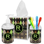 Argyle & Moroccan Mosaic Bathroom Accessories Set (Personalized)