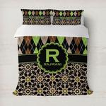 Argyle & Moroccan Mosaic Duvet Cover (Personalized)