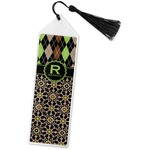 Argyle & Moroccan Mosaic Book Mark w/Tassel (Personalized)