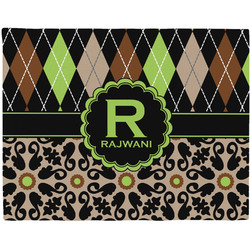 Argyle & Moroccan Mosaic Placemat (Fabric) (Personalized)
