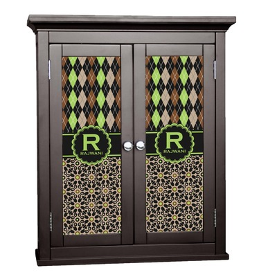 Argyle & Moroccan Mosaic Cabinet Decal - Small (Personalized)