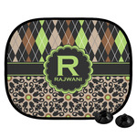 Argyle & Moroccan Mosaic Car Side Window Sun Shade (Personalized)