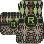 Argyle & Moroccan Mosaic Car Floor Mats (Personalized)