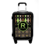 Argyle & Moroccan Mosaic Carry On Hard Shell Suitcase (Personalized)
