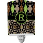 Argyle & Moroccan Mosaic Ceramic Night Light (Personalized)