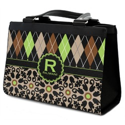 Argyle & Moroccan Mosaic Classic Tote Purse w/ Leather Trim (Personalized)