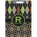 Argyle & Moroccan Mosaic Clipboard (Personalized)
