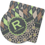 Argyle & Moroccan Mosaic Rubber Backed Coaster (Personalized)