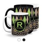 Argyle & Moroccan Mosaic Coffee Mugs (Personalized)
