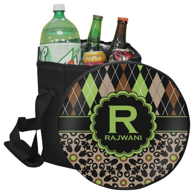 Argyle & Moroccan Mosaic Collapsible Cooler & Seat (Personalized)
