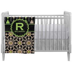 Argyle & Moroccan Mosaic Crib Comforter / Quilt (Personalized)
