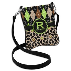 Argyle & Moroccan Mosaic Cross Body Bag - 2 Sizes (Personalized)