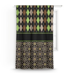 Argyle & Moroccan Mosaic Curtain (Personalized)