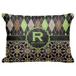 "Argyle & Moroccan Mosaic Decorative Baby Pillowcase - 16""x12"" (Personalized)"