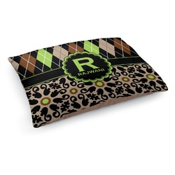 Argyle & Moroccan Mosaic Dog Pillow Bed (Personalized)