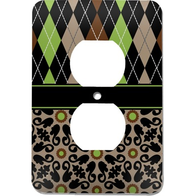 Argyle & Moroccan Mosaic Electric Outlet Plate (Personalized)