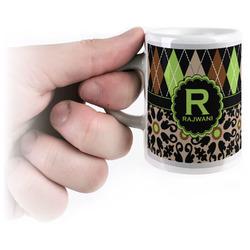 Argyle & Moroccan Mosaic Espresso Mug - 3 oz (Personalized)