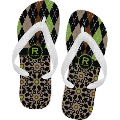 Argyle & Moroccan Mosaic Flip Flops (Personalized)