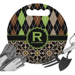 Argyle & Moroccan Mosaic Gardening Knee Cushion (Personalized)