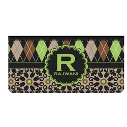 Argyle & Moroccan Mosaic Genuine Leather Checkbook Cover (Personalized)
