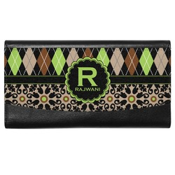 Argyle & Moroccan Mosaic Genuine Leather Ladies Wallet (Personalized)