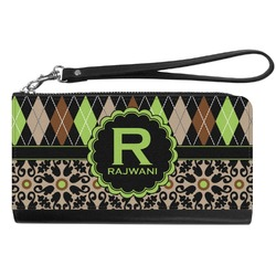 Argyle & Moroccan Mosaic Genuine Leather Smartphone Wrist Wallet (Personalized)