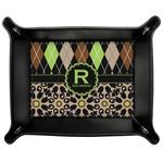 Argyle & Moroccan Mosaic Genuine Leather Valet Tray (Personalized)