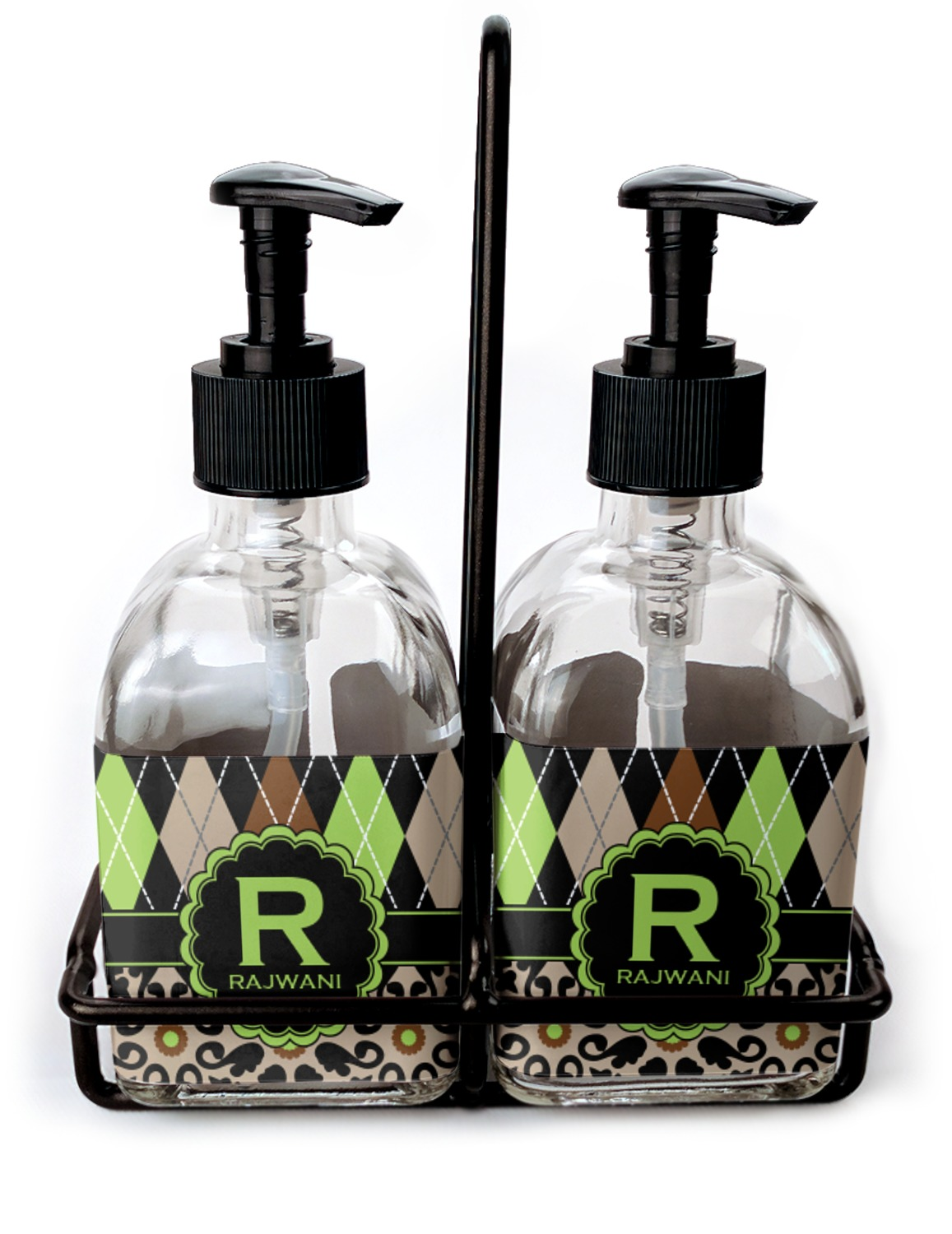 Argyle & Moroccan Mosaic Soap & Lotion Dispenser Set (Glass ...