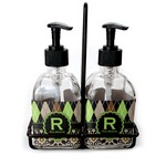 Argyle & Moroccan Mosaic Soap & Lotion Dispenser Set (Glass) (Personalized)